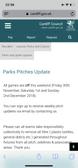 Parks Grass games OFF sat 1st Dec