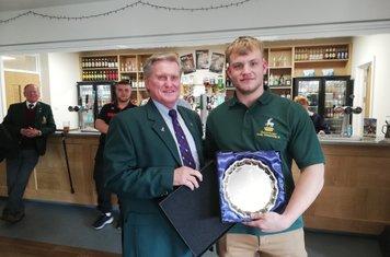 Josh receives Herts RFU U20  Player of the Tournament