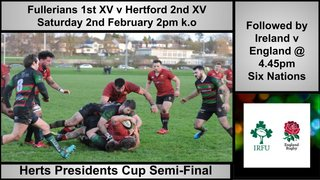 Hertfordshire Presidents Cup Semi-Final