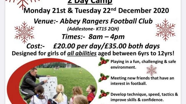 Christmas Football Camp for Girls