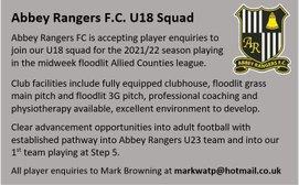 Under 18s - Player Enquiries