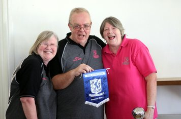 Pat Betts, Dave Hicks and Sheila West from the club shop