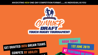 Summer Touch Rugby gets an exciting, new and ultra-sociable Draft-Style tournament for UK
