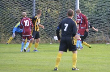 Jordan Dooley deflects home to score the second goal