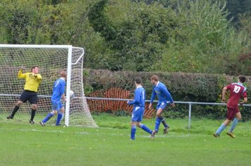 ....and the ball finds the net for Llans 3rd goal.