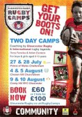 Gloucester Rugby Junior 2 Day Training Camp at Coney Hill RFC on 9th & 10th August 2016