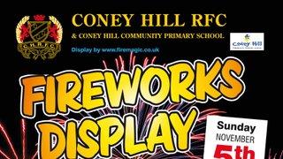 Fireworks Extravaganza by Firemagic - Coney Hill RFC Sunday Nov 5th