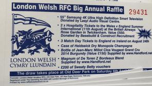 NEW | London Welsh Annual Big Raffle