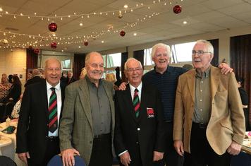 Joe Jones with London Welsh Legends