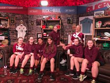 Ladies/Girls feature as demo team on BT Sport's Rugby Tonight