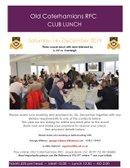 OCRFC Club Lunch - 14th December 2019