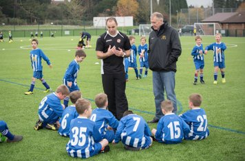 More sitting down from the U8s