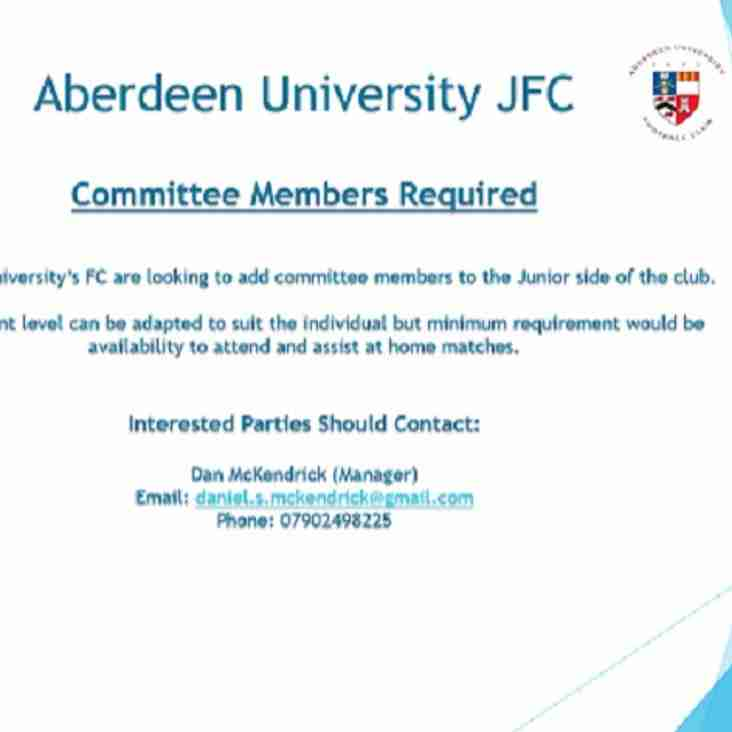 Aberdeen University looking for committee members