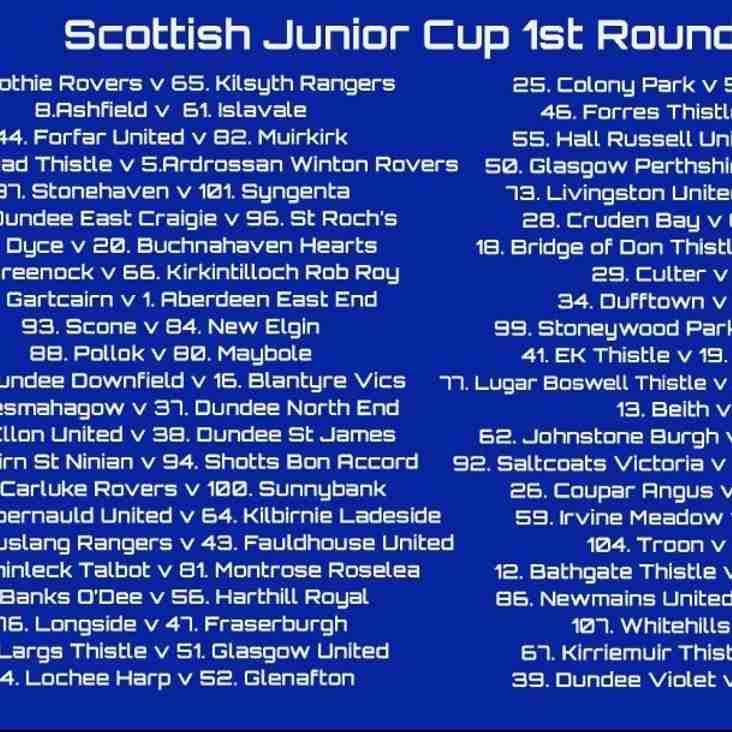 Macron Scottish Junior Cup draws