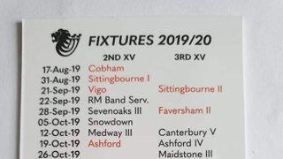 2019/20 Season Fixture Cards