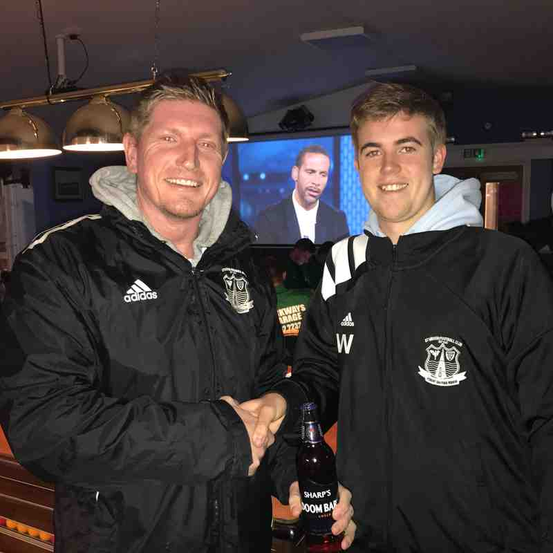 Sharps Brewery Man of the Match - Ryan Holland