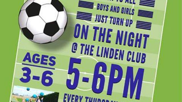 Tots and Wildcats Thursdays 5-6pm at Linden this Thursday - New players welcome!