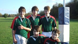 Five Lincoln RFC U-14s represent Lincolnshire