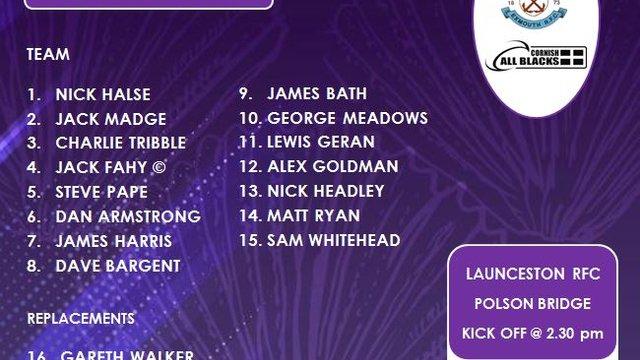 1st Team v Launceston RFC