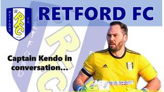 Captain Kendo flies in...
