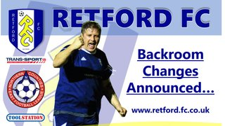 Backroom changes announced...