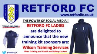 Ladies celebrate new sponsor...