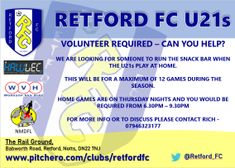 Can you help the Under 21's ? ...