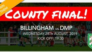 Senior Cup Final: 28th August...Billingham vs DMP