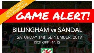 Preview: Billingham vs Sandal 14/09/19