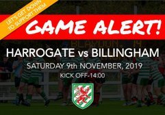 Harrogate Game Changed to A 2pm Kick Off!!