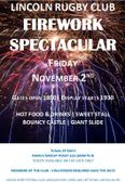 Lincoln Rugby Club Fireworks Spectacular