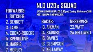 George Pomfret makes the U20s NLD Squad.