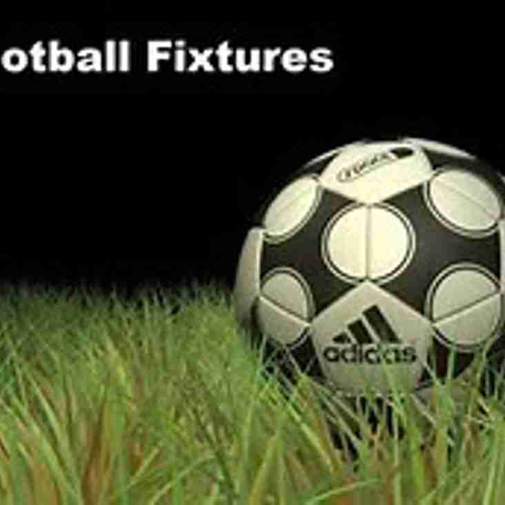 September 2018 Fixtures now on website