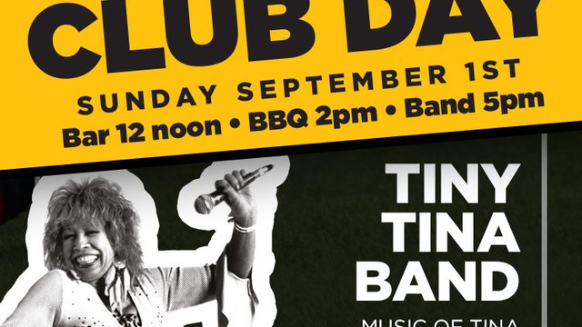 Club Day - Sunday September 1st - All Welcome in The Marquee & Club
