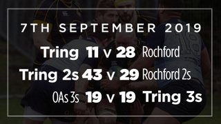 Saturday 7th Sept Results