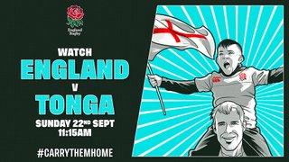 Join us for England v Tonga