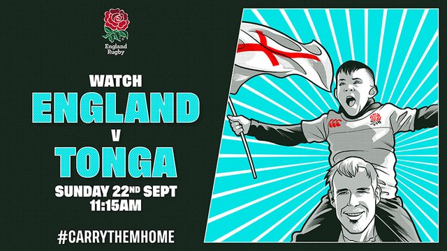 Join us for England v Tonga