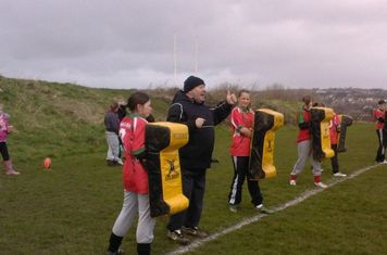 The girls team train on saturday morning's 10.30am to 12 noon.