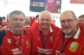 Vince Owen with Justin and Andy at Old Northamptionians RFC