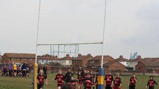 FHRFC U11s & u12s at Gosport April 2013