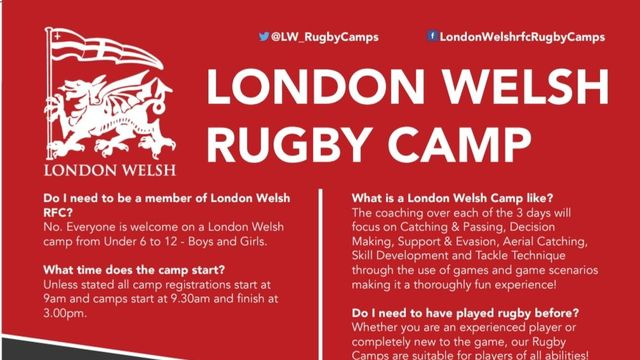 London Welsh Summer Children's Training Camps