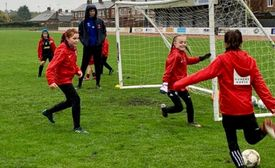 U10's Girls Football Training