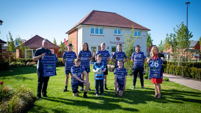 Gladiators score support from Redrow