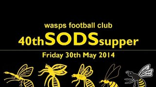 Wasps SODS Supper - Friday 30th May 2014