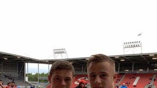 Morgan and Greg @ St Helens. (First game together)