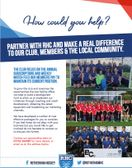 RHC Sponsor opportunities - How could you help?