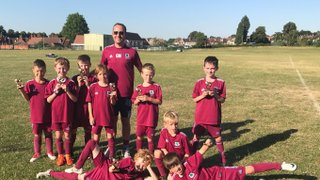 U8 Dragons Runners up at BYDL summer league tournament