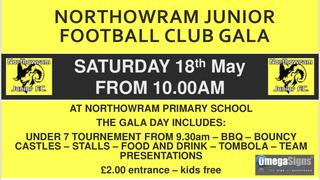 Northowram Juniors Gala and Presentation Day - tommorrow 10am onwards