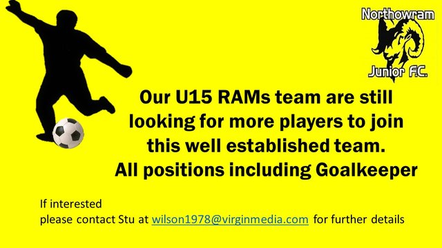 U15 Players wanted all positions