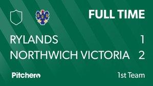 Rylands FC 1 Northwich Vics 2